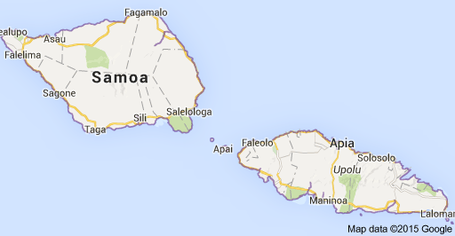 the 2 islands of samoa savaii and upoluapia